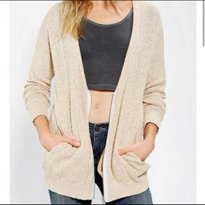 Urban Outfitters Silence + Noise Zip Up Cardigan